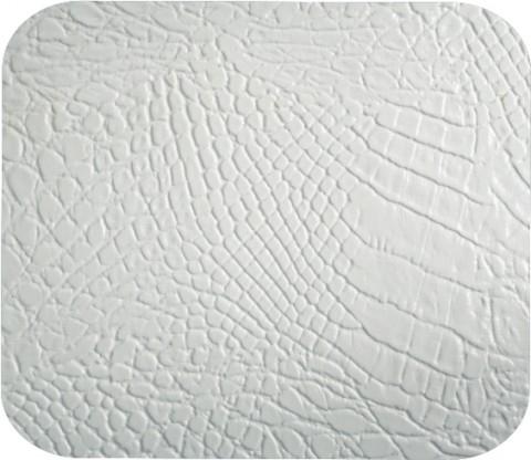 Couro ecológico Croco Branco